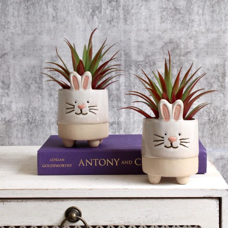 Bunny Rabbit Planter Set