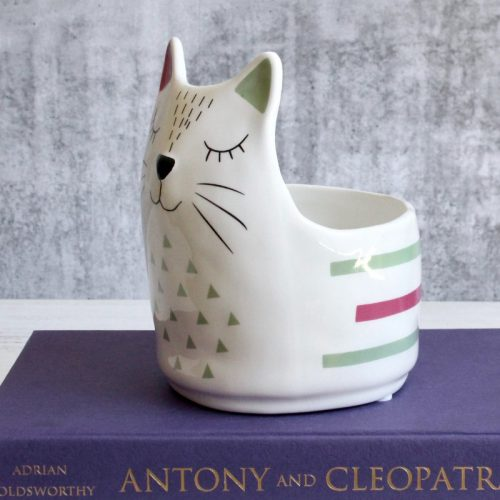 Colourful Kitty Cat Planter Pot