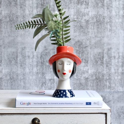 Girl with Hat Planter