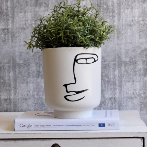 Minimal Abstract Face Planter Pot