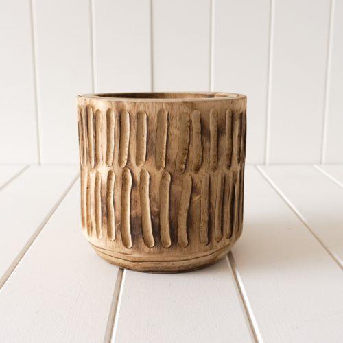 Natural Timber Planter Pot