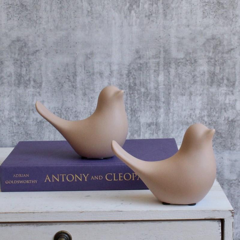 Nude Dove Bird Figurine - Set of 2