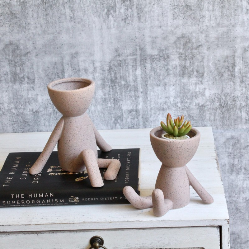 Nude Sandy Sitting Person Head Planter