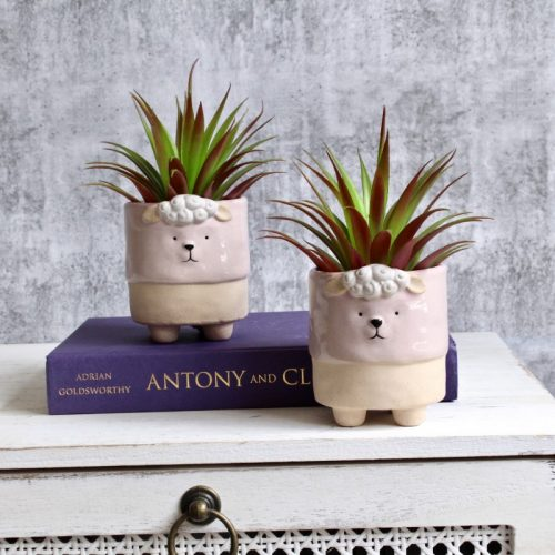 Pink Sheep Planter Set