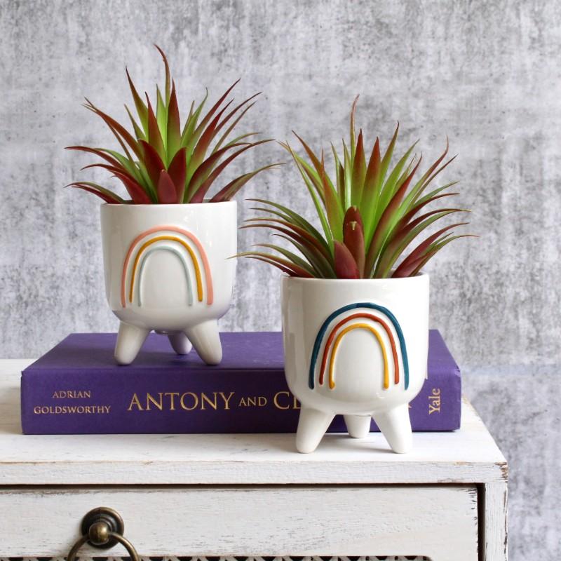 Rainbow Planter Pot With Legs