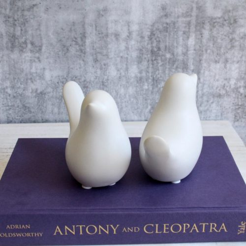 White Dove Bird Figurine - Set of 2