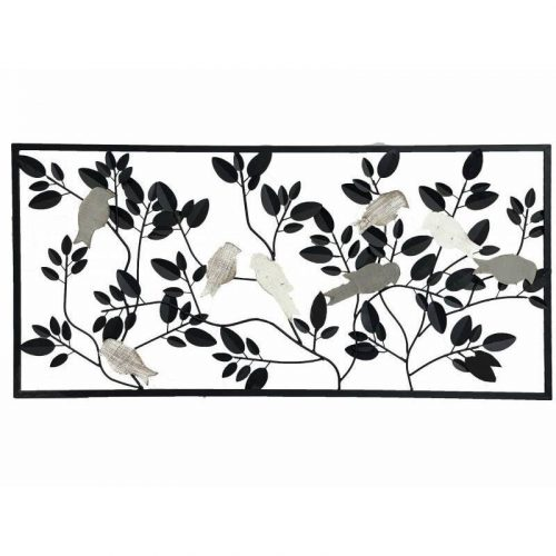 Birds on Tree Branches Metal Wall Art