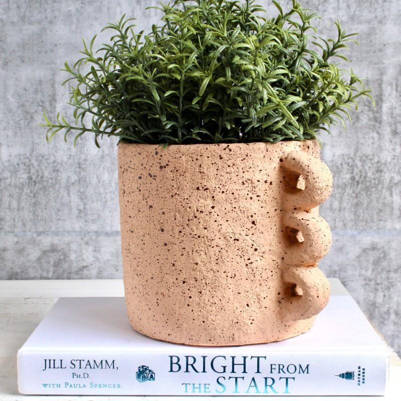 Blush Nude Concrete Planter Pot