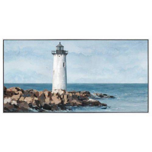 Coastal Lighthouse Framed Canvas Wall Art