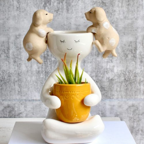Dog Pot Sitter - Set of 2