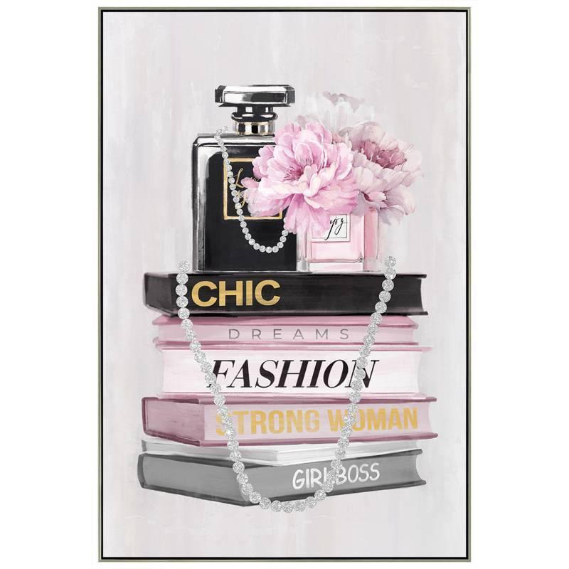 Fashion Perfume Framed Canvas Wall Art
