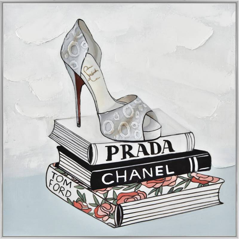 Glamour Shoe Framed Canvas Wall Art