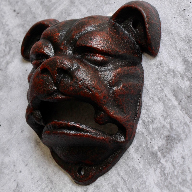 Bulldog Cast Iron Beer Bottle Opener