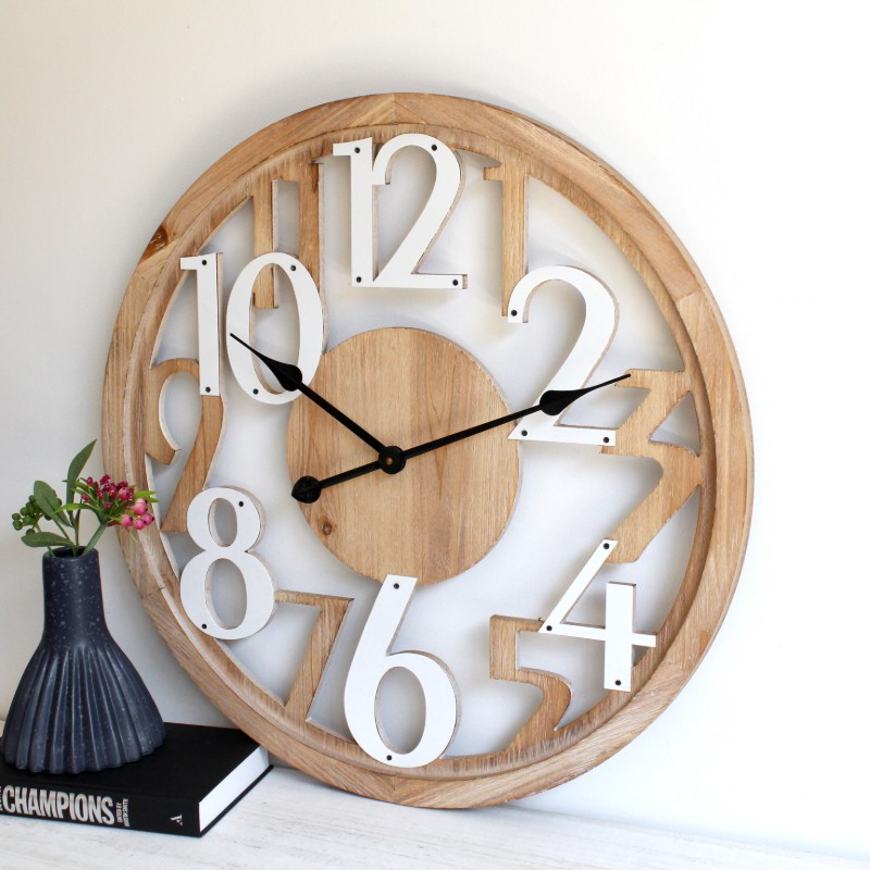 Large Hamptons Floating Round Wall Clock