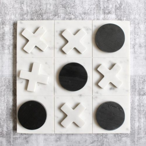 Marble Tic Tac Toe Board Game Noughts & Crosses