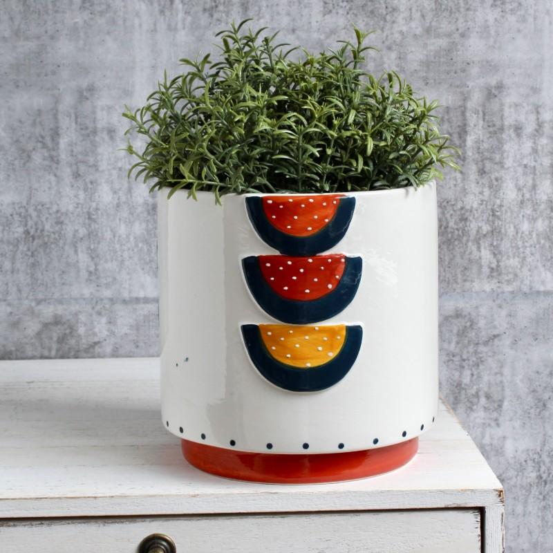Vibrant Boho Ceramic Planter Pot
