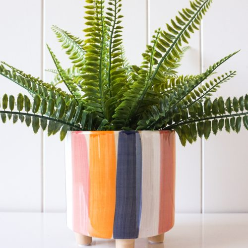 Vibrant Lines Ceramic Planter Pot