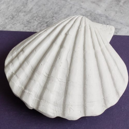 White Poly Sea Shell Ornament