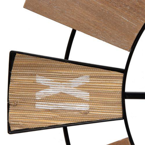 XL Large Hamptons Natural Wooden Wall Clock