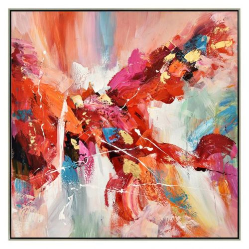 Abstract Drama of Colours Framed Canvas