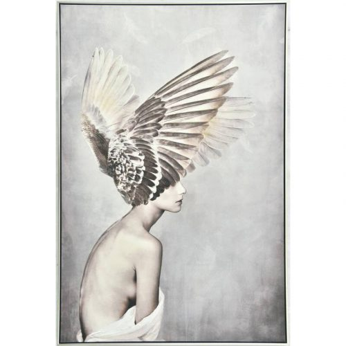 Angel with Wings Framed Canvas