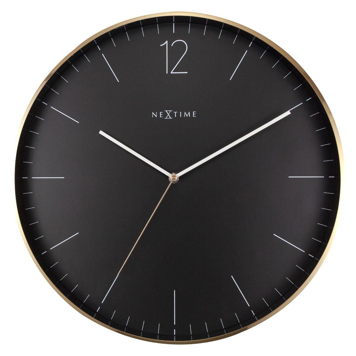 Black Gold NeXtime Silent Wall Clock