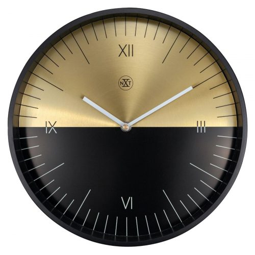 Black Gold NeXtime Wall Clock