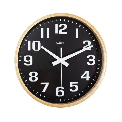 Black Leni Wooden Wall Clock