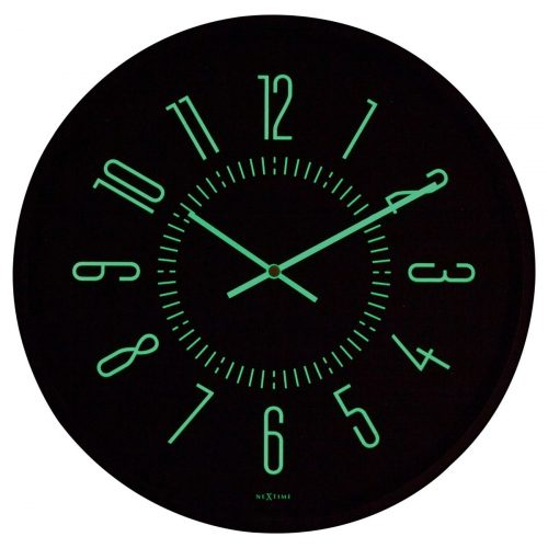 Black NeXtime Glow In Dark Wall Clock