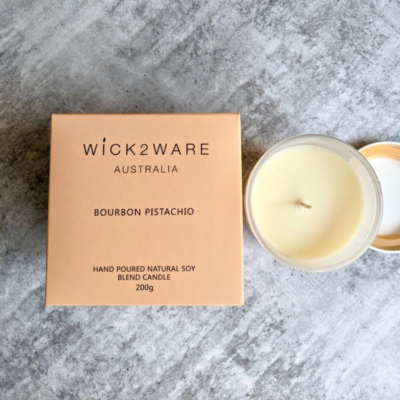 Bourbon Pistachio Hand Poured Candle Jar