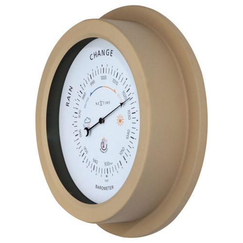 Brown Metal NeXtime Outdoor Barometer