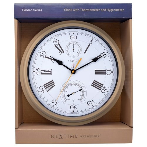 Brown NeXtime Outdoor Wall Clock