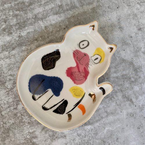 Cat Ceramic Trinket Dish