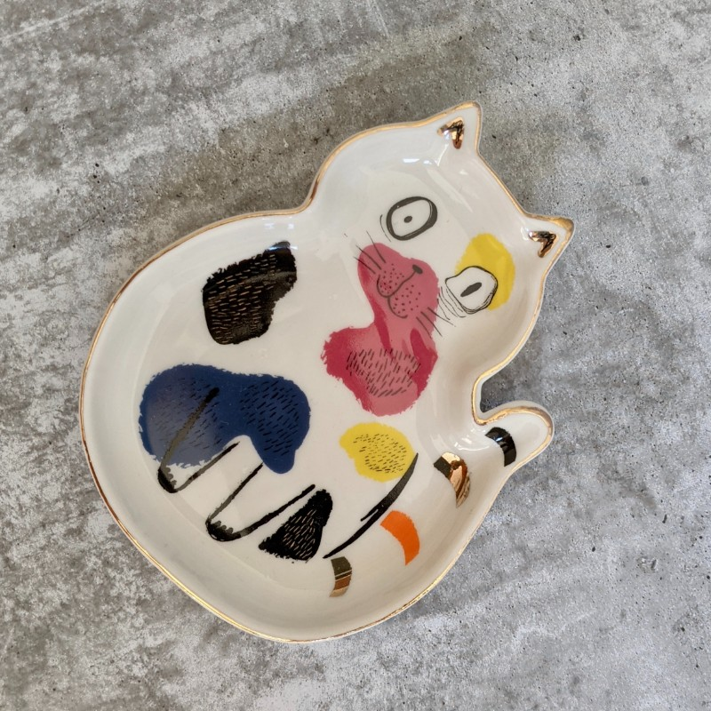 Cat Ceramic Trinket Dish