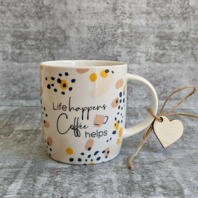 Coffee Helps Quote Ceramic Coffee Mug