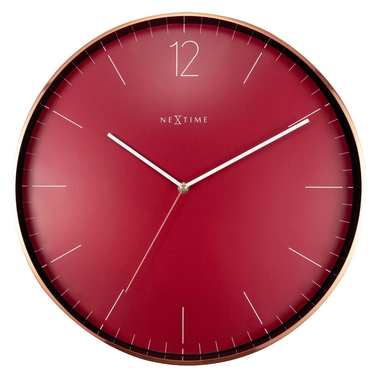 Copper Wine NeXtime Silent Wall Clock