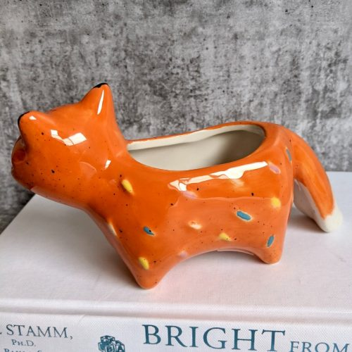 Fox with Tail Planter Pot