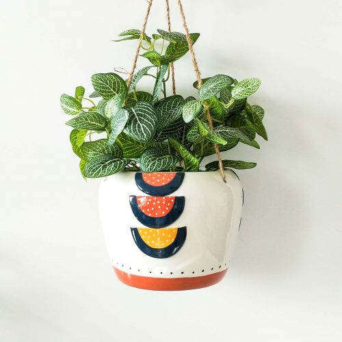 Hanging Colourful Boho Pot Planter