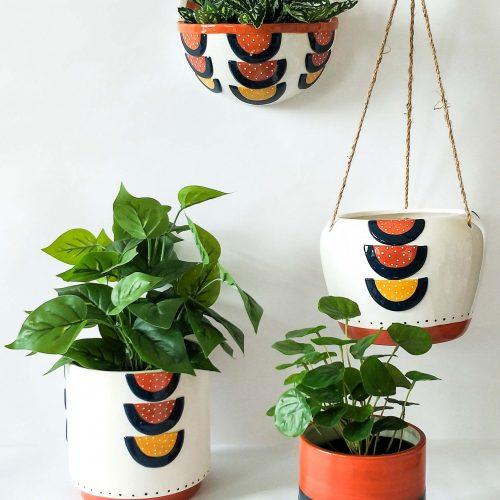 Hanging Colourful Boho Pot Planter