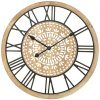 Large Hamptons Carved Wooden Wall Clock