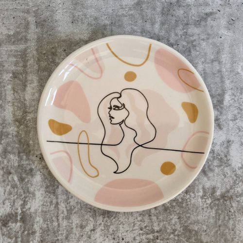 Linear Girl Face Trinket Dish