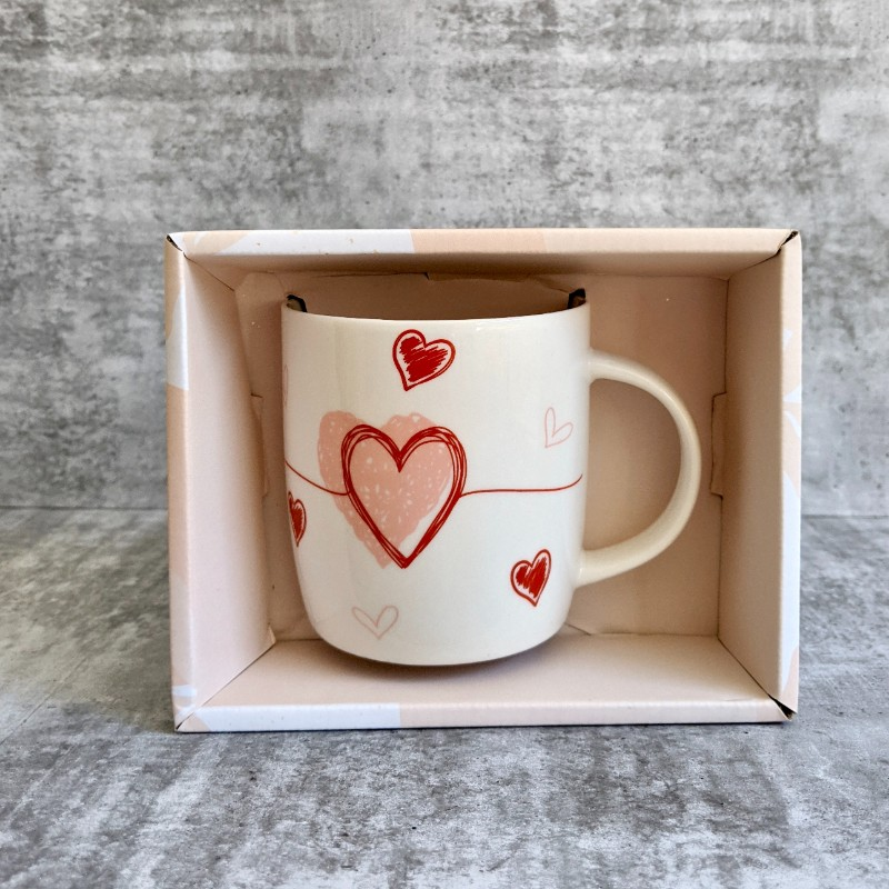 Love Hearts Ceramic Coffee Mug