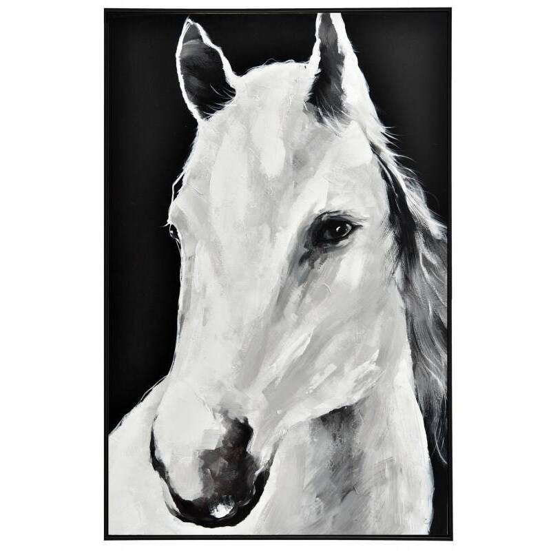 Monochrome Horse Framed Canvas