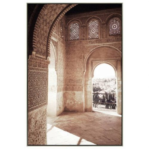 Moroccan Arch Framed Canvas Wall Art
