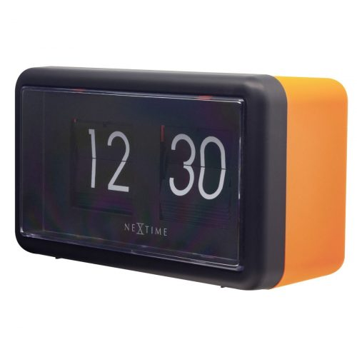 NexTime Black Orange Small Flip Clock