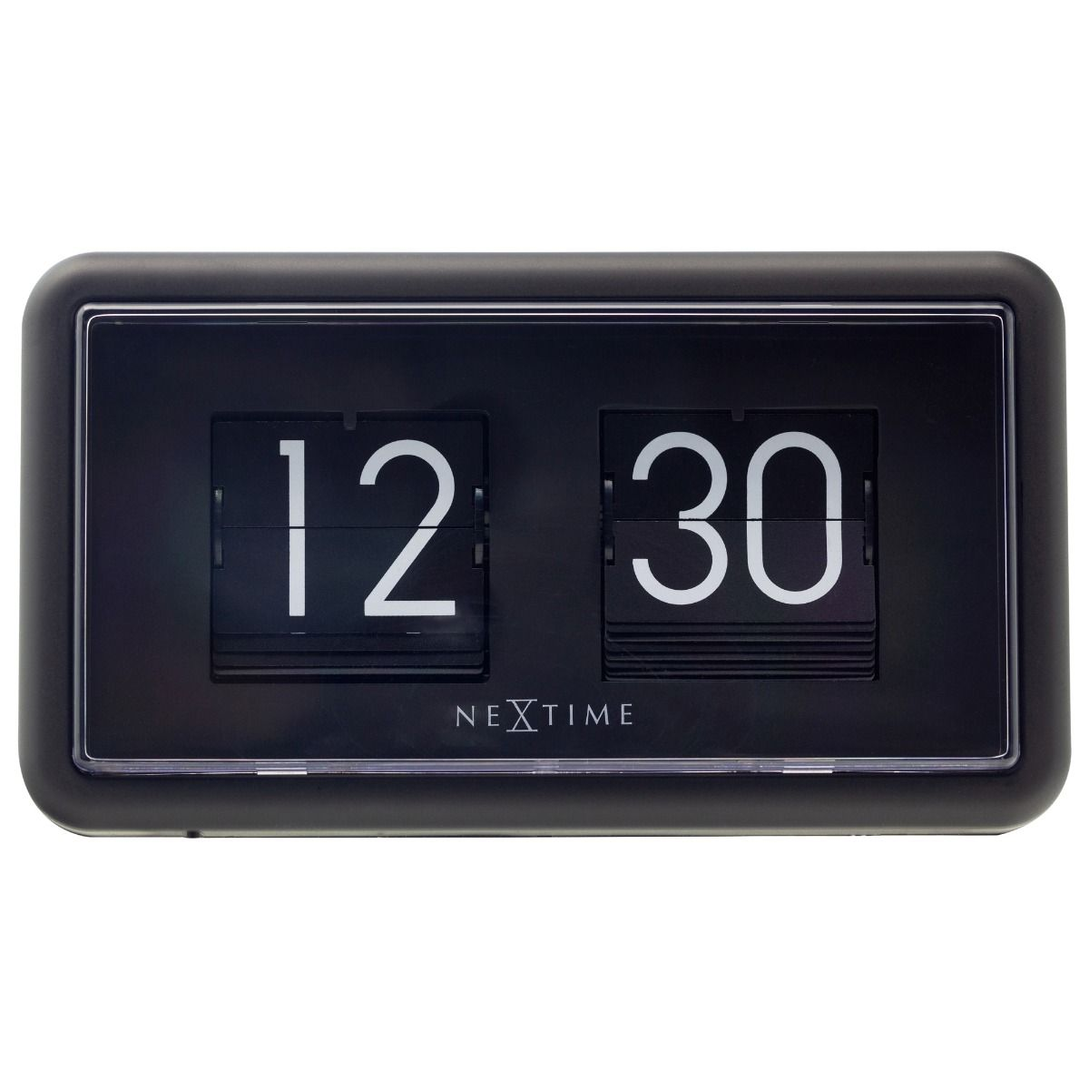 NexTime Black Small Flip Clock