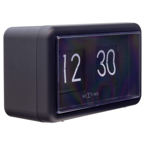 NexTime Black Small Flip Clock