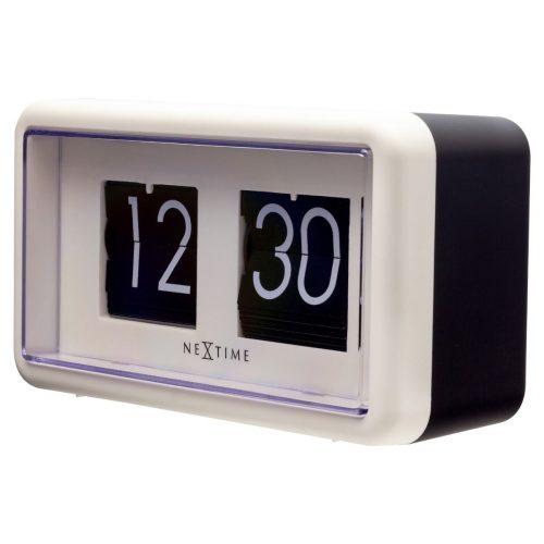 NexTime Black White Small Flip Clock