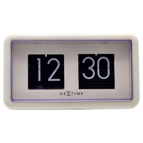 NexTime Black White Small Flip Clock