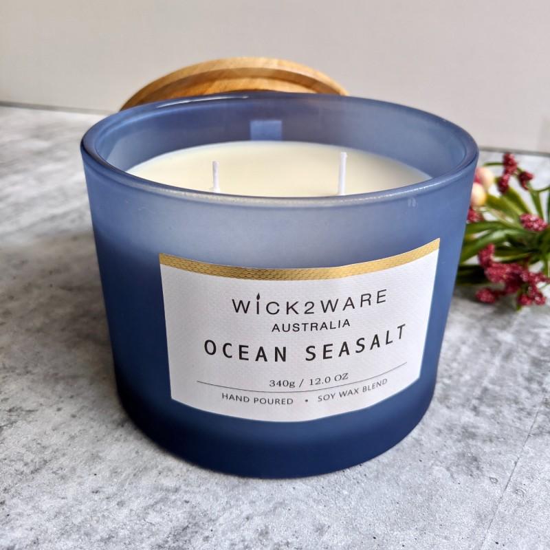 Ocean Seasalt Hand Poured Jar Candle